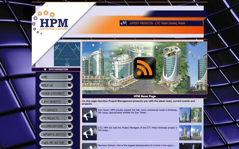 Screenshot of Press Page hamilton-pm.com - HPM News - captured Oct. 1, 2014