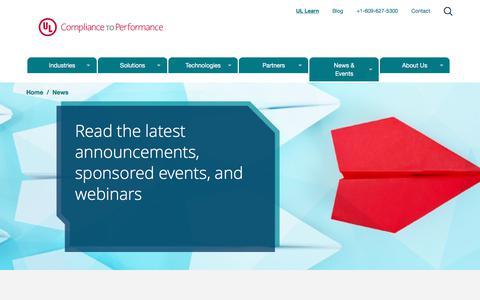 Screenshot of Press Page ulcompliancetoperformance.com - News -UL Compliance to Performance - captured July 28, 2017