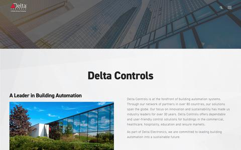 Screenshot of About Page deltacontrols.com - About Delta Controls - Delta Controls - captured Sept. 21, 2019