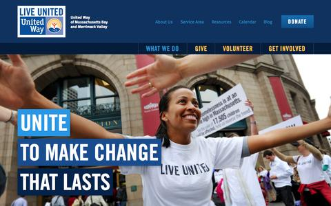 Screenshot of Press Page supportunitedway.org - United Way of Massachusetts Bay and Merrimack Valley - captured Sept. 23, 2015
