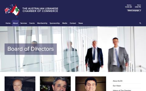 Screenshot of Team Page alcc.com.au - Board of Directors - The Australian Lebanese Chamber of Commerce - captured Oct. 26, 2014