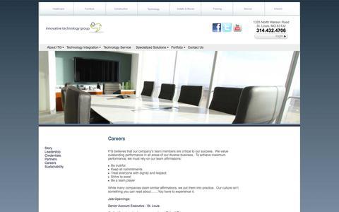Screenshot of Jobs Page itgca.com - Careers - captured Oct. 6, 2014