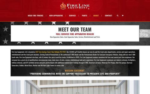Screenshot of About Page firelineequipment.com - About Fire Line Equipment - captured Nov. 6, 2018