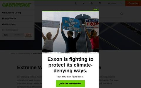 Extreme Weather & Climate Change - Greenpeace USA