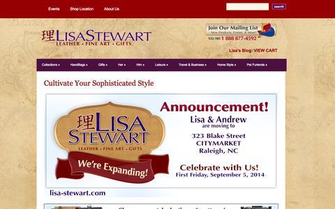 Screenshot of Home Page lisa-stewart.com - Lisa Stewart Designs | Inventive, Elegant, Style - captured Oct. 1, 2014