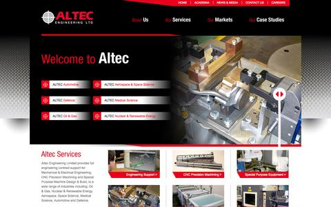 Screenshot of Home Page Terms Page alteceng.co.uk - Welcome to Altec Engineering Limited - captured Oct. 1, 2014