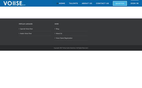 Screenshot of Login Page voiise.com - Signin   Voiise Audio Solutions - captured Aug. 20, 2019