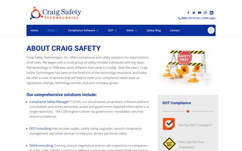 Screenshot of About Page craigsafetytechnologies.com - About - captured Sept. 29, 2018