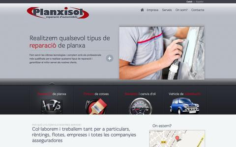 Screenshot of Home Page planxisol.com - Planxisol - Taller de reparació d'automòbils a Vilafranca del Penedès - captured Sept. 30, 2014