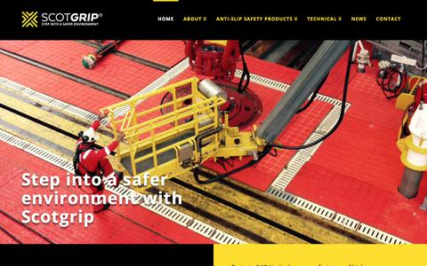 Screenshot of Home Page scotgrip.com - Scotgrip HD anti-slip and polyurethane safety products - captured Oct. 2, 2018