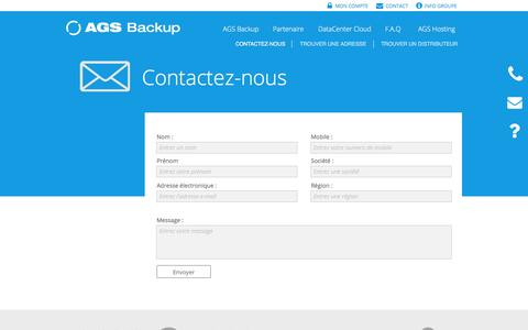 Screenshot of Contact Page ags-backup.com - Contact AGS Backup - captured Dec. 22, 2015
