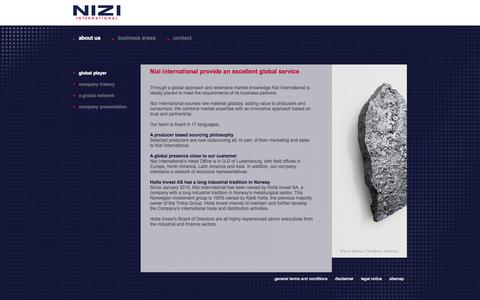 Screenshot of About Page nizi.com - Nizi international provide an excellent global service | Nizi - Nizi International - captured Oct. 9, 2014