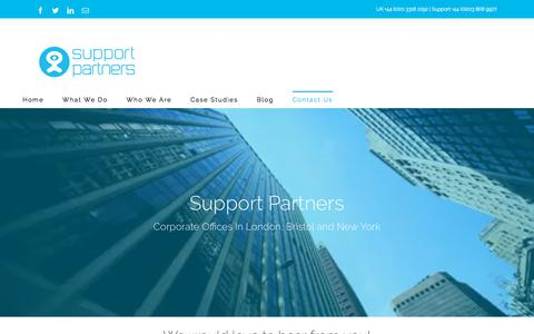 Screenshot of Contact Page support-partners.com - Contact Us - Support Partners - captured Sept. 21, 2018