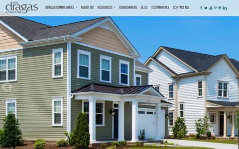 Screenshot of Home Page dragas.com - Virginia Beach & Chesapeake New Condo Homes   The Dragas Companies - captured Feb. 1, 2017