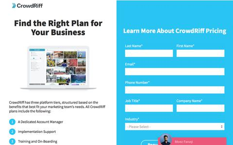 Request Pricing for CrowdRiff - Visual Marketing and UGC Platform for Travel Brands