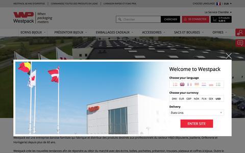 Screenshot of About Page westpack.com - À propos de nous - captured Jan. 28, 2018