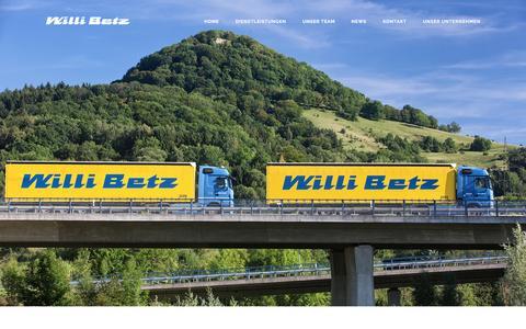 Screenshot of Home Page willibetz.com - Willi Betz - Ihr zuverlässiger Transportpartner -willibetz.com   Internationale Spedition - captured Nov. 30, 2016