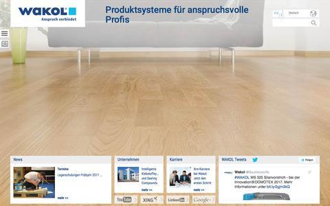 Screenshot of Press Page wakol.com - Wakol GmbH News - captured Dec. 10, 2016