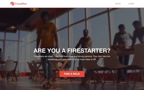 Screenshot of Jobs Page crowdfireapp.com - Careers at Crowdfire - captured June 22, 2016