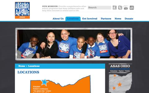 Screenshot of Locations Page asasohio.org - Locations | After-School All-Stars - captured Oct. 4, 2014