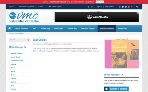 Screenshot of Case Studies Page myvmc.com - Case Studies   myVMC - captured Oct. 26, 2014