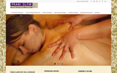 Screenshot of Contact Page praniglowdayspa.com.au - Contact us - Thai inspired day spa & massage |Hepburn - captured Nov. 2, 2014