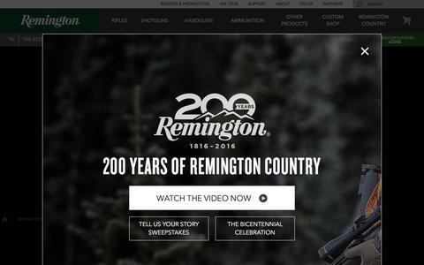 Screenshot of Products Page remington.com - Products | Remington - captured Nov. 30, 2016