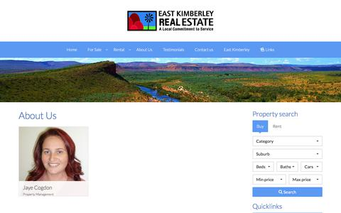 Screenshot of About Page Team Page eastkimberleyrealestate.com - Our Team - East Kimberley Real Estate - captured July 1, 2018