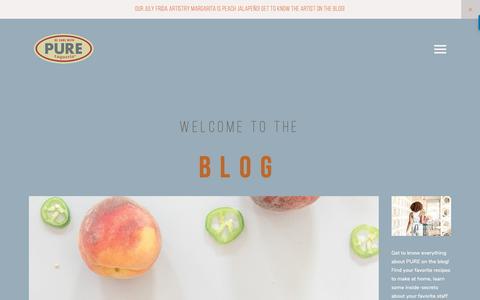 Screenshot of Blog puretaqueria.com - Pure Taqueria — Blog - captured Sept. 29, 2018