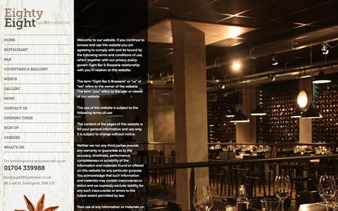 Screenshot of Terms Page 88lordstreet.co.uk - Terms & Conditions - Eighty Eight Bar & Brasserie - captured Oct. 3, 2014