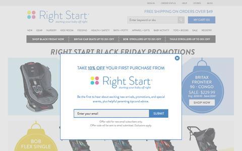 Screenshot of Home Page rightstart.com - Baby Registry, Strollers, Convertible Car Seats  & more  - Rightstart.com - captured Nov. 24, 2016