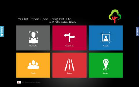 Screenshot of Home Page yrsintuitions.com - Yrs Intuitions Consulting Pvt Ltd | Social Media Chennai - captured Feb. 26, 2016