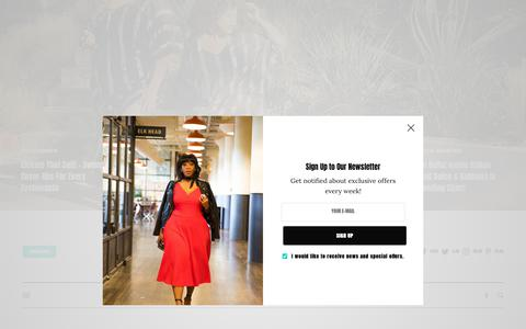 Screenshot of Contact Page thecurvyfashionista.com - Contact Us | The Curvy Fashionista - captured June 21, 2019