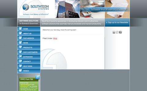 Screenshot of Press Page southtechsystems.com - Blog | SouthTech Systems™ - captured Dec. 16, 2016