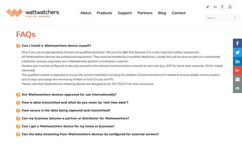 Screenshot of FAQ Page wattwatchers.com.au - FAQs - captured Nov. 6, 2017