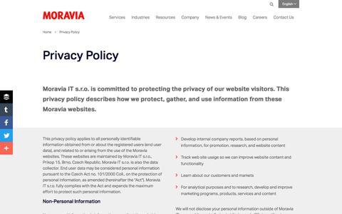 Privacy Policy - Moravia