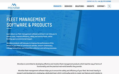 Screenshot of Products Page microlise.com - Fleet Management Software | Fleet Management Products - captured June 10, 2017