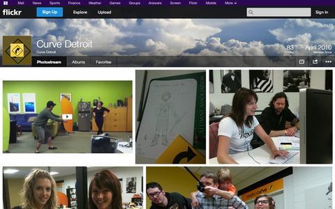 Screenshot of Flickr Page flickr.com - Flickr: Curve Detroit's Photostream - captured Oct. 22, 2014