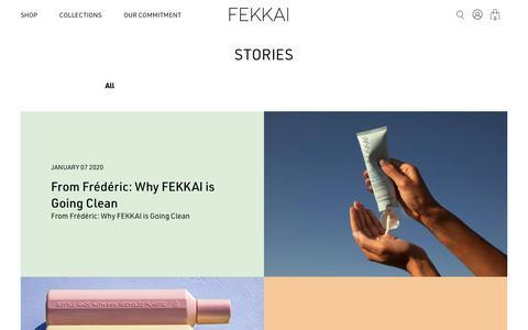 Screenshot of Blog fekkai.com - Stories – Fekkai - captured Jan. 11, 2020
