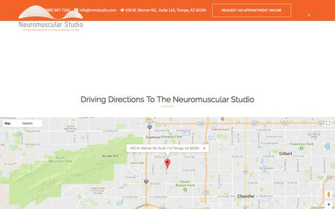 Screenshot of Maps & Directions Page nmtstudio.com - Driving Directions - NMT Studio - captured Oct. 23, 2017