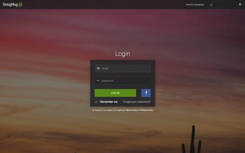 Screenshot of Login Page smugmug.com - Photo Sharing. Your Photos Look Better Here. - captured Jan. 19, 2016