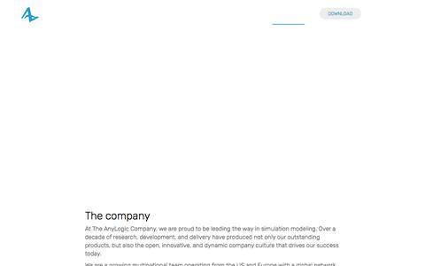 Screenshot of Jobs Page anylogic.com - Careers – AnyLogic Simulation Software - captured April 15, 2018