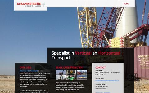 Screenshot of Home Page Site Map Page kraaninspectienederland.nl - Kraaninspectie Nederland - Hijskranen, hijstellingen en kraanmachinisten - captured Sept. 30, 2014