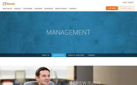 Screenshot of Team Page illumio.com - Illumio Management Team - captured April 21, 2016