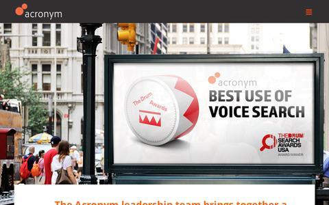 Screenshot of Team Page acronym.com - Team – Acronym - captured July 15, 2019