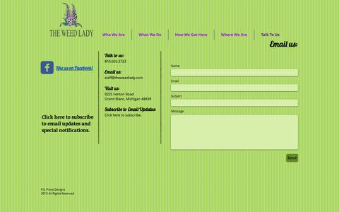 Screenshot of Contact Page theweedlady.com - The Weed Lady Contact Grand Blanc Michigan - captured June 15, 2017