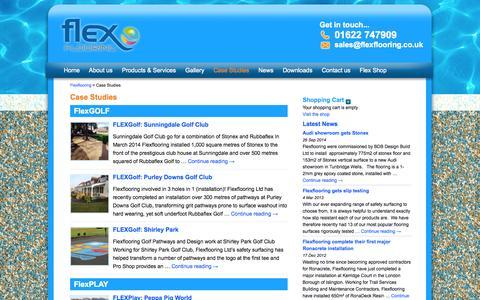 Screenshot of Case Studies Page flexflooring.co.uk - Case Studies :: Flexflooring - captured Oct. 6, 2014