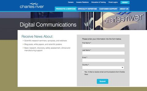 Screenshot of Signup Page criver.com - Digital Communications - captured Oct. 7, 2017