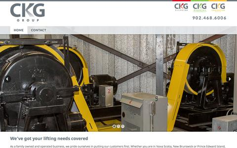 Screenshot of Home Page ckggroup.ca - CKG Group | Halifax, Nova Scotia CKG Group - captured Dec. 5, 2015
