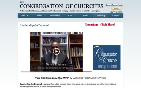 Screenshot of Team Page congregationofchurches.org - Leadership - captured Jan. 28, 2016